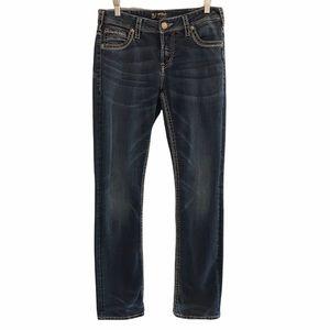 Silver Jeans Suki women's high rise straight 30